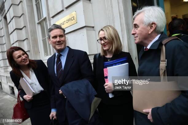 Shadow Environment Secretary Sue Hayman Shadow Brexit Secretary Keir Starmer Shadow Business Secretary Rebecca Long Bailey and Shadow Chancellor John...