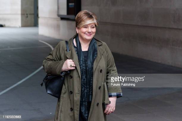 Shadow Foreign Secretary Emily Thornberry leaves the BBC Broadcasting House in central London on 05 January 2020 in London England Emily Thornberry...