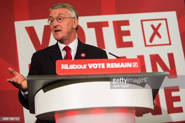 Shadow Foreign Secretary Hilary Benn speaks at Church House on June 13 2016 in London England Mr Benn made a speech today appealing to voters to vote...