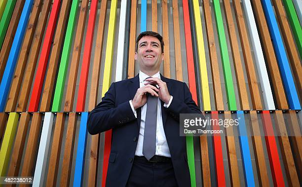 Shadow Health Secretary Andy Burnham poses for a photograph prior to delivering a State Of The Leadership Race speech at the Royal Armouries Museum...