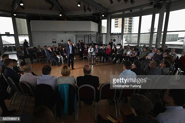 Shadow Home Secretary and Member of Parliament for Leigh Andy Burnham launches his bid to become Mayor of Greater Manchester at The Lowry on May 19...