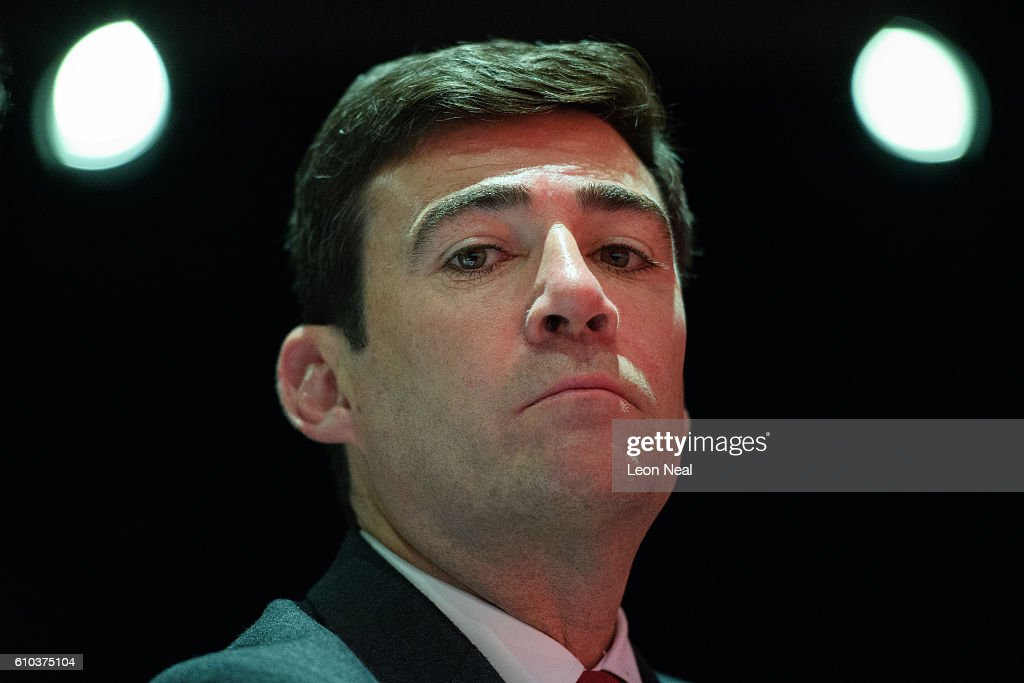 Shadow Home Secretary Andy Burnham listens to speakers in the main hall on the first day of the Labour Party Conference in the Exhibition Centre Liverpool on September 25, 2016 in Liverpool, England. Party leader Jeremy Corbyn will hope to re-unite the party after being re-elected leader yesterday.