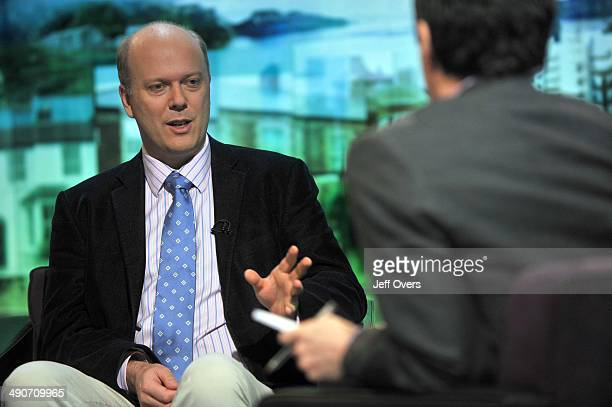 Shadow Home Secretary Chris Grayling talking to Jon Sopel during The Politics Show January 25th 2009