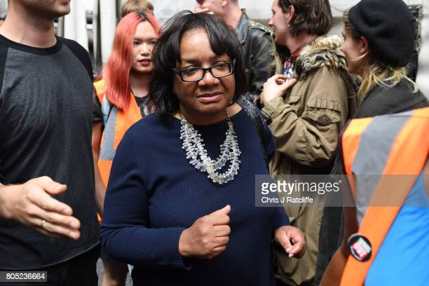 Shadow Home Secretary Diane Abbott during the 'Not One Day More' march at BBC Broadcasting House on July 1 2017 in London England Thousands of...