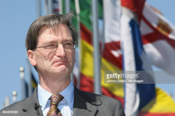 Shadow Home Secretary Dominic Grieve speaks to the media during a press conference to launch Lord Stevens' report 'Border Protection Service for the...