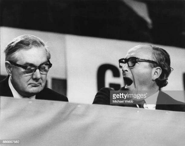 Shadow Home Secretary James Callaghan and Roy Jenkins Deputy Leader of the Labour Party at the Labour Party Conference in Brighton UK 4th October...
