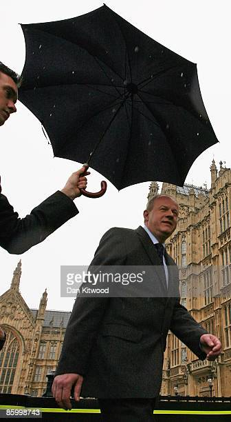 Shadow Immigration Minister Damian Green arrives at College Green to give a statement to the press on April 16 2009 in London England Mr Green was...