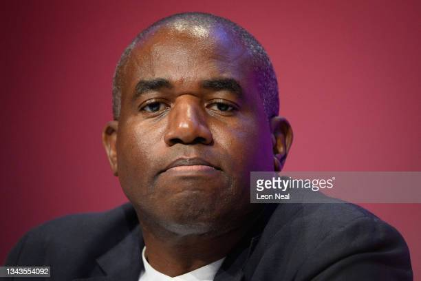 Shadow Justice Secretary David Lammy is seen in the main hall on day four of the Labour Party conference on September 28, 2021 in Brighton, England....