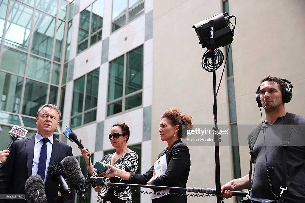 Shadow Minister for Agriculture and Rural Affairs Joel Fitzgibbon speaks to the media during a press conference at Parliament House on December 4, 2014 in Canberra, Australia. Today is the official last day of sitting at Parliament for 2014. Parliament will return on February 9, 2015.