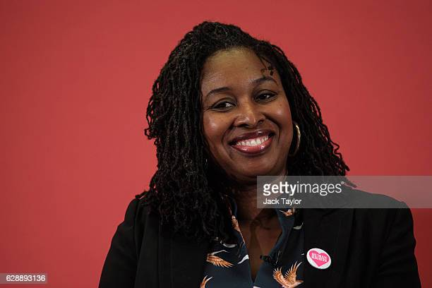 Shadow Minister for Diverse Communities Dawn Butler is pictured following a speech by Labour Leader Jeremy Corbyn at the Methodist Central Hall in...