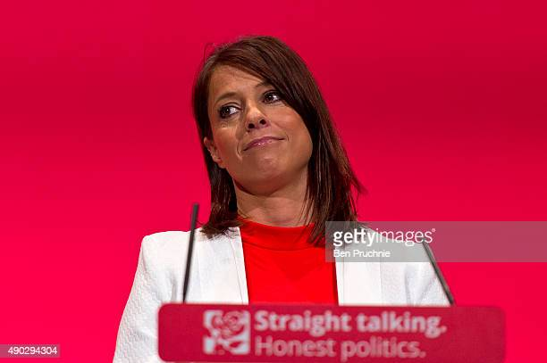 Shadow Minister For The Young Gloria De Piero speaks during a session entitled Better Politics at Every Level during the first day of the Labour...