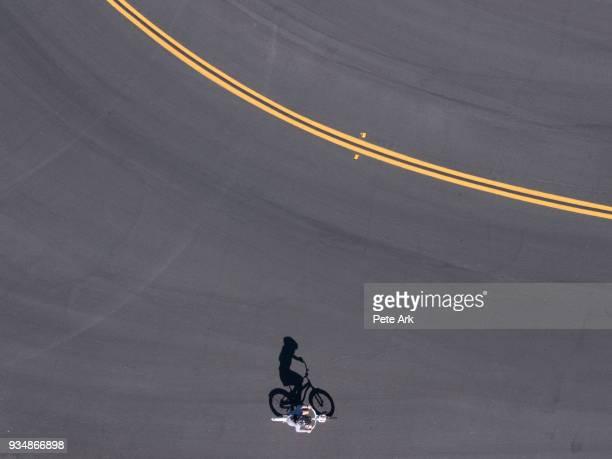 Shadow of a Bike Rider