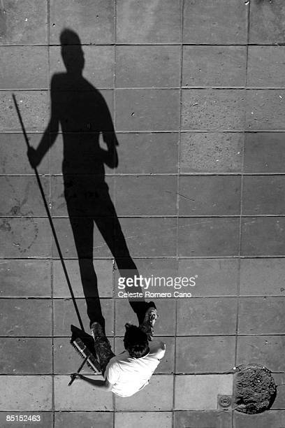 shadow of a garbage, or 'the little prince' - street sweeper stock pictures, royalty-free photos & images
