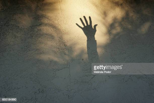 shadow of a hand reaching up - social justice concept stock pictures, royalty-free photos & images