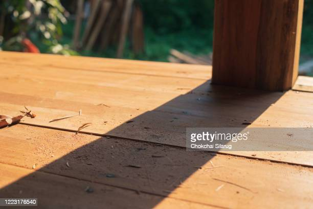 shadow of a wooden pole,wood background - lake urmia foto e immagini stock