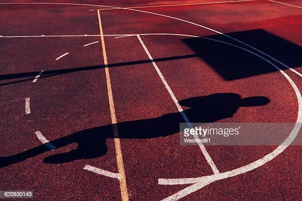 Shadow of basketball player
