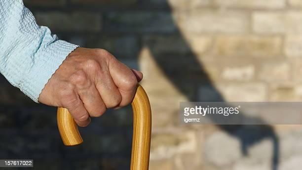 Sombra de Bengala na mão de Envelhecimento