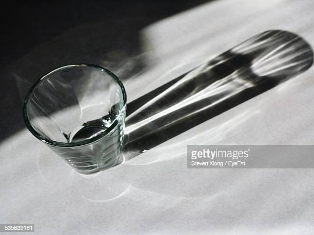 Shadow Of Drinking Glass At Home