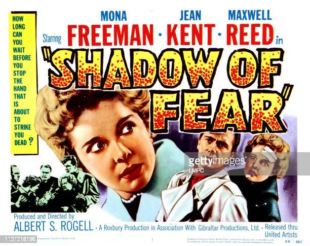 Shadow Of Fear poster US poster from left Mona Freeman Maxwell Reed Mona Freeman 1954
