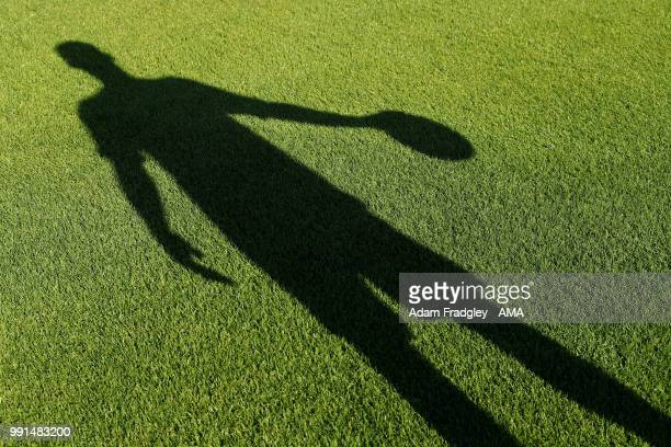 Shadow of goalkeeper signing Sam Johnstone on July 3, 2018 in West Bromwich, England.
