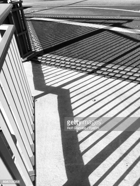 Shadow Of Railing On Staircase