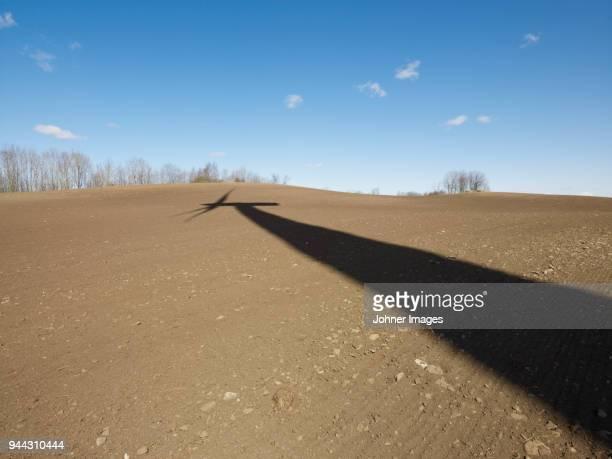 Shadow of wind turbine