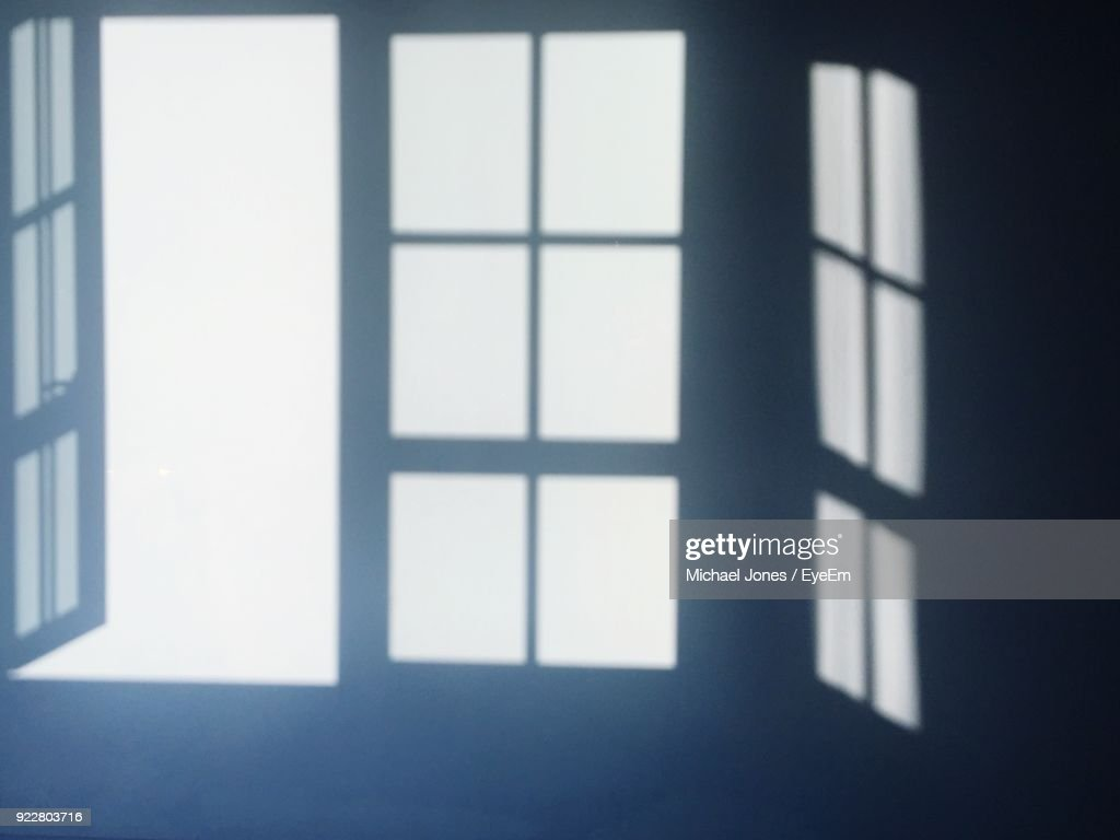 Shadow Of Windows On Wall : Stock Photo