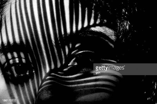 shadow on a girl's face - bangladeshi beautiful girl stock photos and pictures