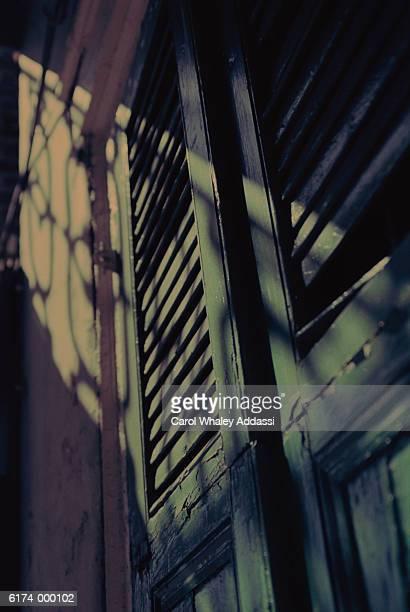 Shadow on Old Door
