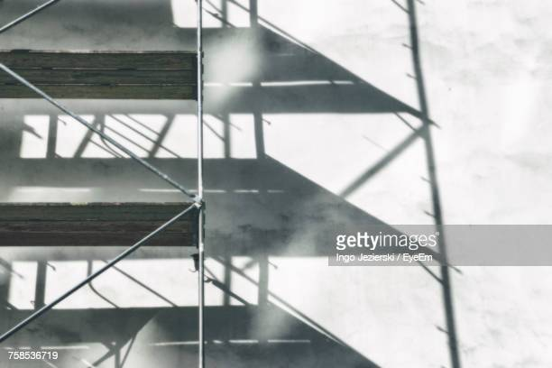 Shadow On Scaffolding Of Building