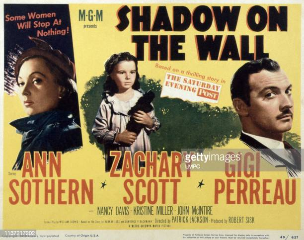Shadow On The Wall poster US poster from left Ann Sothern Gigi Perreau Zachary Scott 1950
