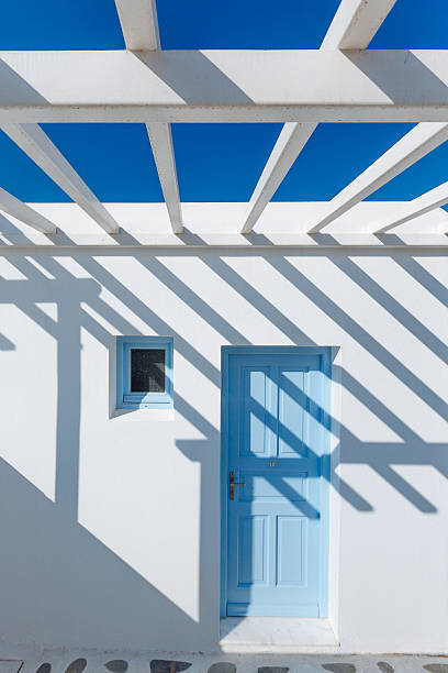 Shadow on Traditional Greek house