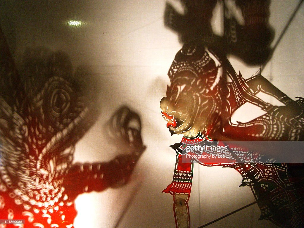 Shadow play puppet of Malaysia : Stock Photo