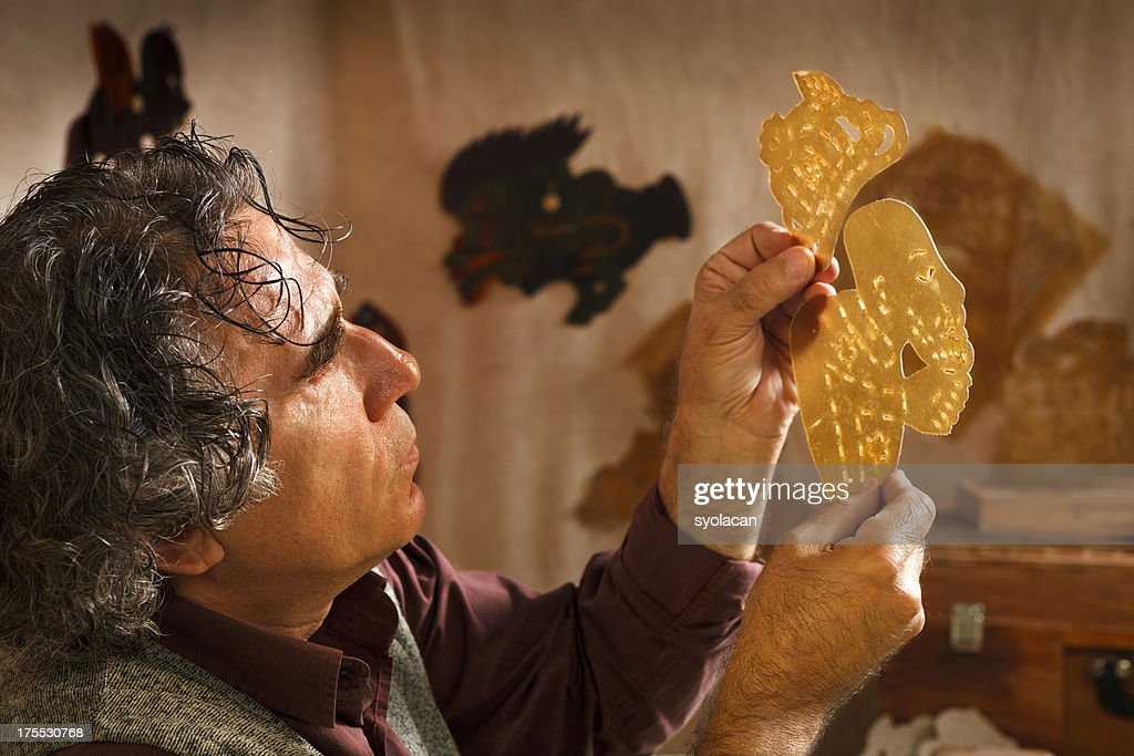 Shadow Puppet Maker : Stock Photo