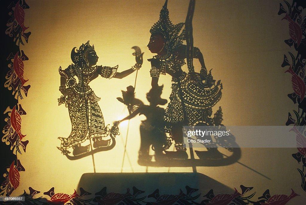 Shadow puppet play, Wayang Kulit : Stock Photo