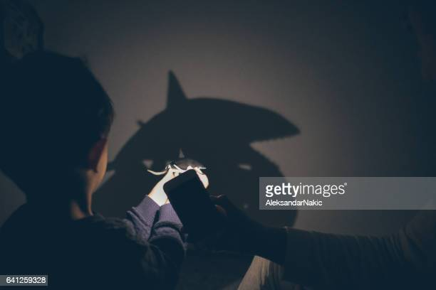 Shadow puppet show