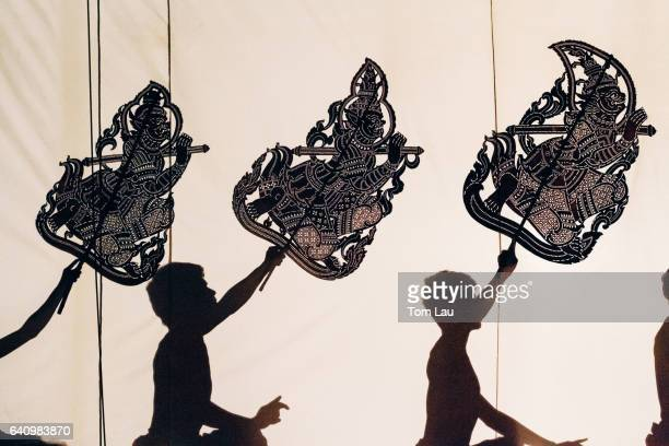 Shadow puppetry in Phnom Penh, Cambodia