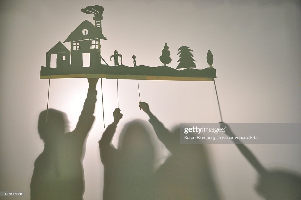 Shadow puppets : Stock Photo