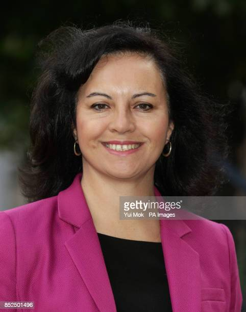 Shadow Secretary of State for Energy and Climate Change Caroline Flint outside the Houses of Parliament central London