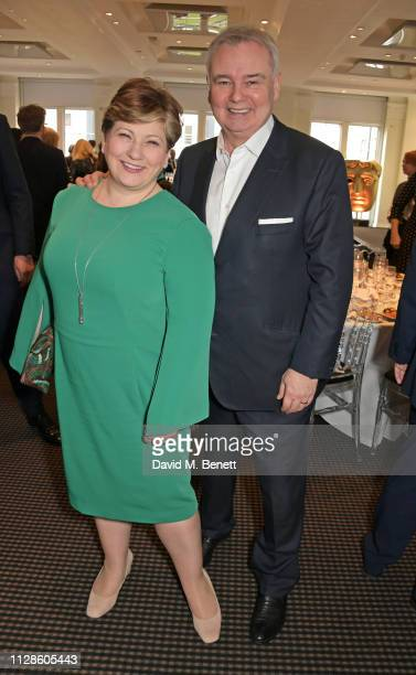 Shadow Secretary of State for Foreign and Commonwealth Affairs Emily Thornberry and Eamonn Holmes attend Turn The Tables 2019 hosted by Tania Bryer...