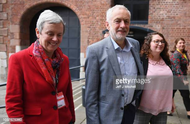 Shadow Secretary of State for Work and Pensions Margaret Greenwood Labour leader Jeremy Corbyn and Labour MP Danielle Rowley arrive at the...