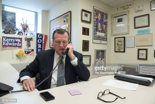 Shadow Senator Michael D Brown at work in his office in the basement of the John A Wilson Building in Washington DC on Apr 27 2018