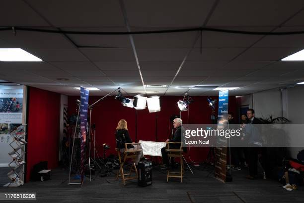 Shadow Shadow Chancellor John McDonnell is interviewed ahead of his keynote address on the third day of the Labour Party conference on September 23...