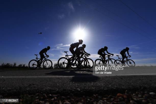 Shadow / Silhouette / Landscape / Peloton / during the 45th Volta ao Algarve, Stage 5 a 173,5km stage from Faro to Alto Do Malhão 518m - Loulé / VA /...