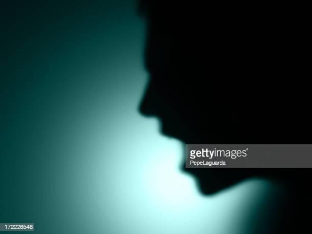 shadows: defocused man shout