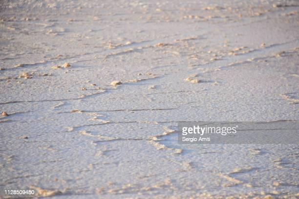 Shadows in the salt at Uyuni Salt Flats
