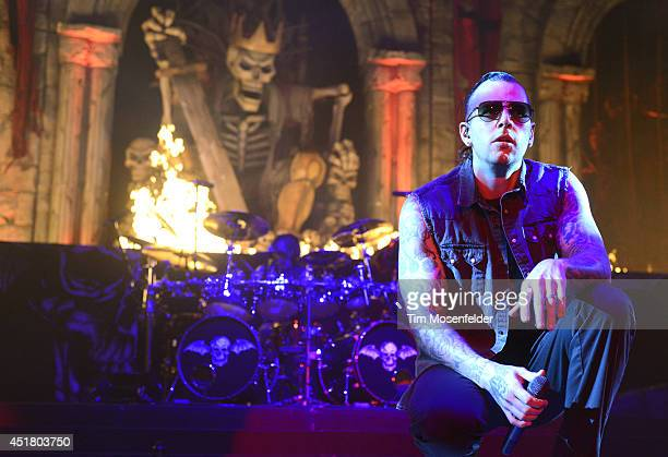 M Shadows of Avenged Sevenfold performs during the Rockstar Energy Mayhem Festival at Shoreline Amphitheatre on July 6 2014 in Mountain View...