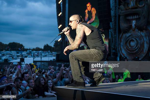 Shadows of Avenged Sevenfold performs on Day 1 of the Download Festival at Donington Park on June 13 2014 in Castle Donington England