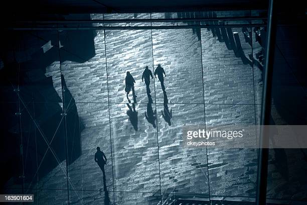 shadows of people - london ontario stock photos and pictures