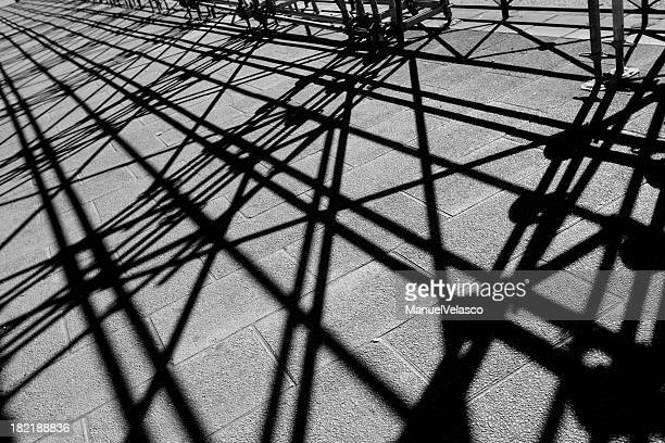 shadows of scaffolding